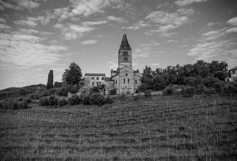 foto bianco e nero basilica dei Fieschi